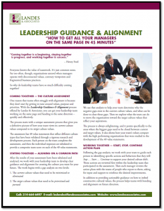 Leadership Guidance and Alignment