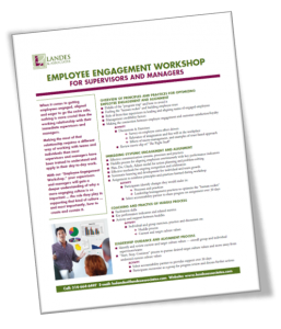 Supervisor and Manager Employee Engagement Workshop