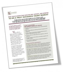 Talent Acquisition Info Sheet